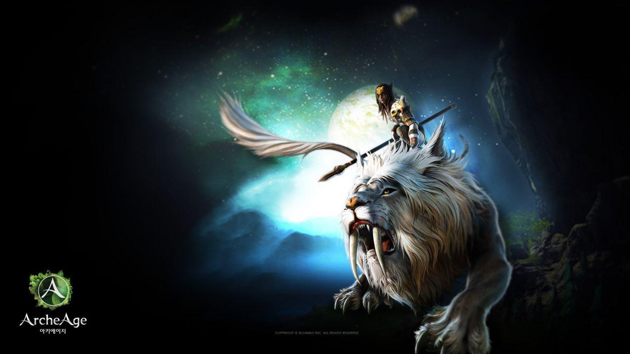 ARCHEAGE fantasy mmo rpg sandbox adventure online lion creature wallpaper