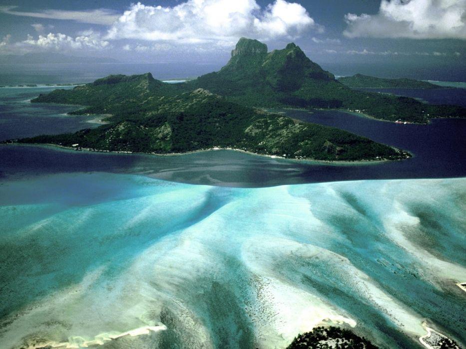 beach nature sea ocean sky blue exotic wallpaper