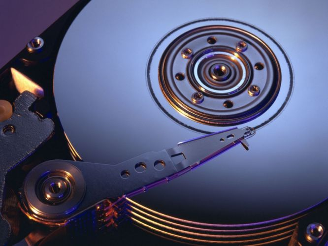 tehnology hard disc wallpaper