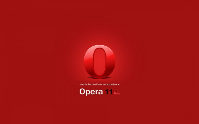 tehnology opera 11 logo wallpaper