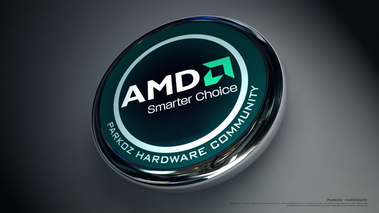 tehnology amd logo wallpaper