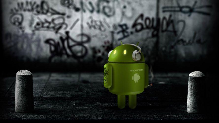 tehnology android logo wallpaper