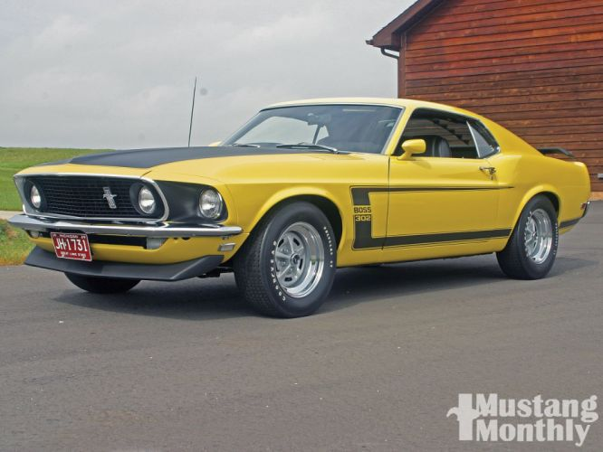 1969 302 Boss classic Ford muscle Mustang pony cars usa wallpaper