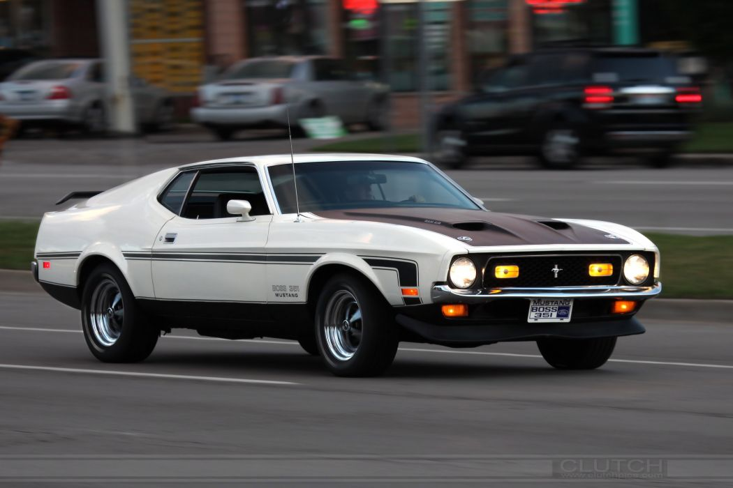1971 351 Boss classic Ford muscle Mustang pony cars usa wallpaper