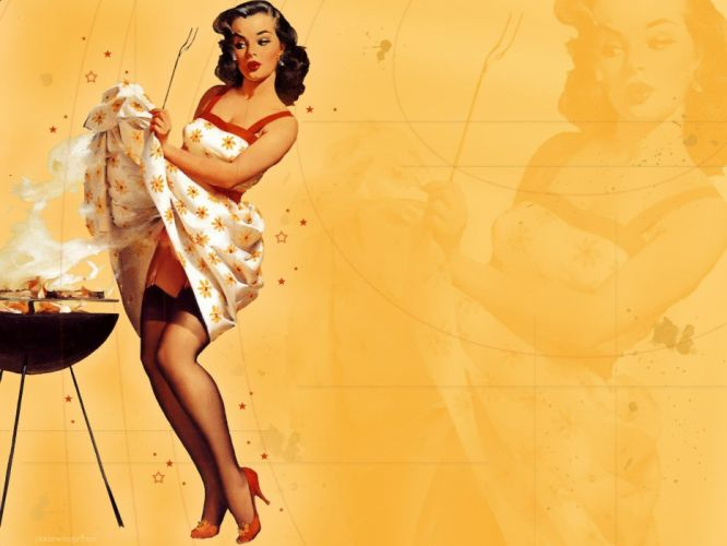 girl pin up beauty woman art wallpaper