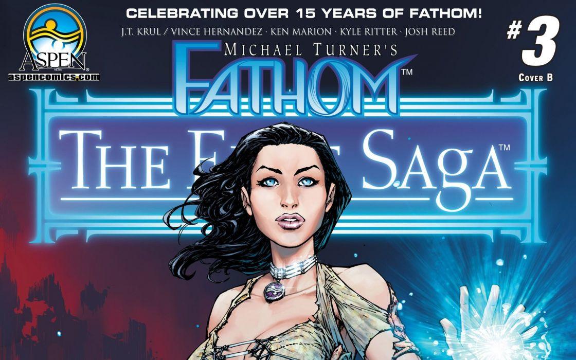 fathom character comic book hero beauty wallpaper