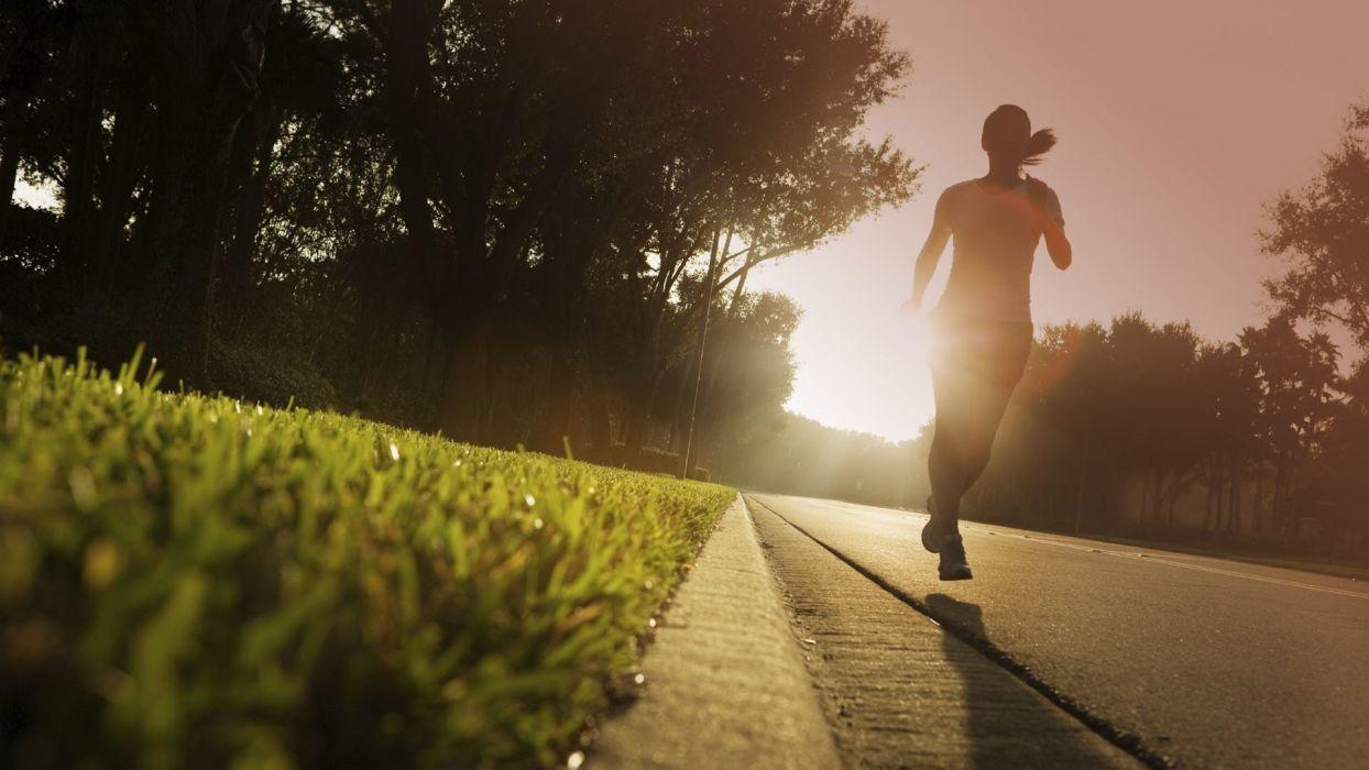 girl run sprint joging wallpaper
