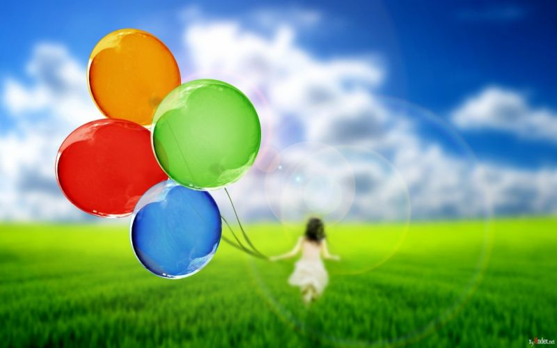 balons abstract child wallpaper