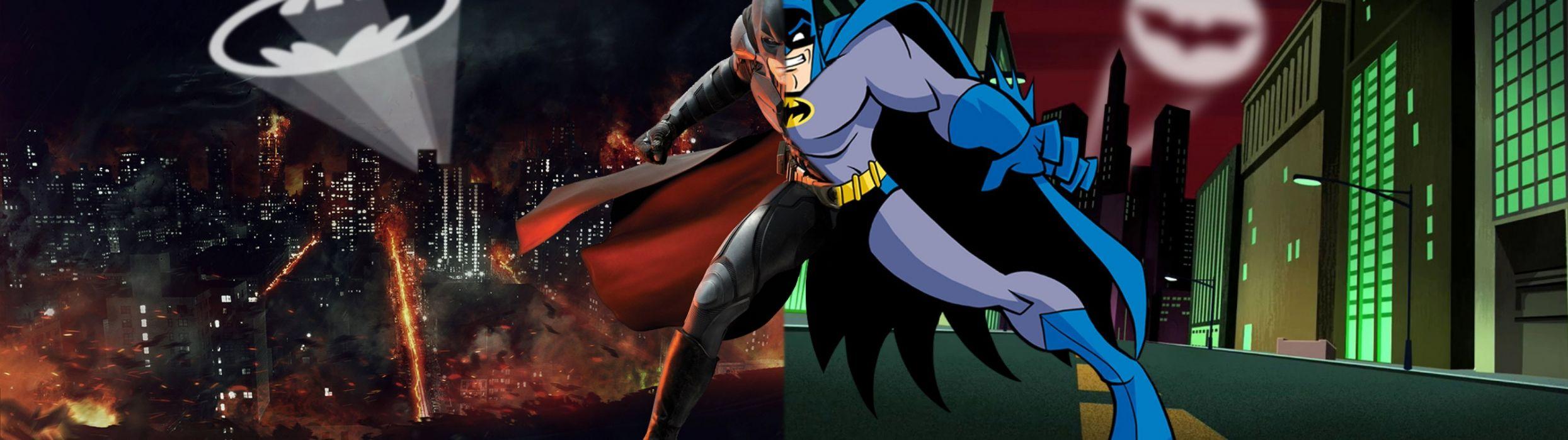 dual monitor screen batman comics hA wallpaper