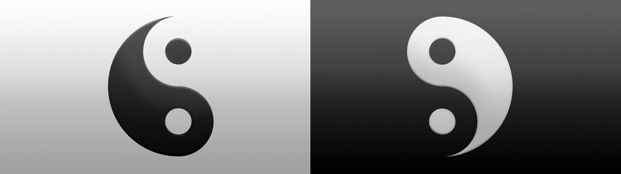 dual monitor screen multi multiple ying yang equilibre A wallpaper