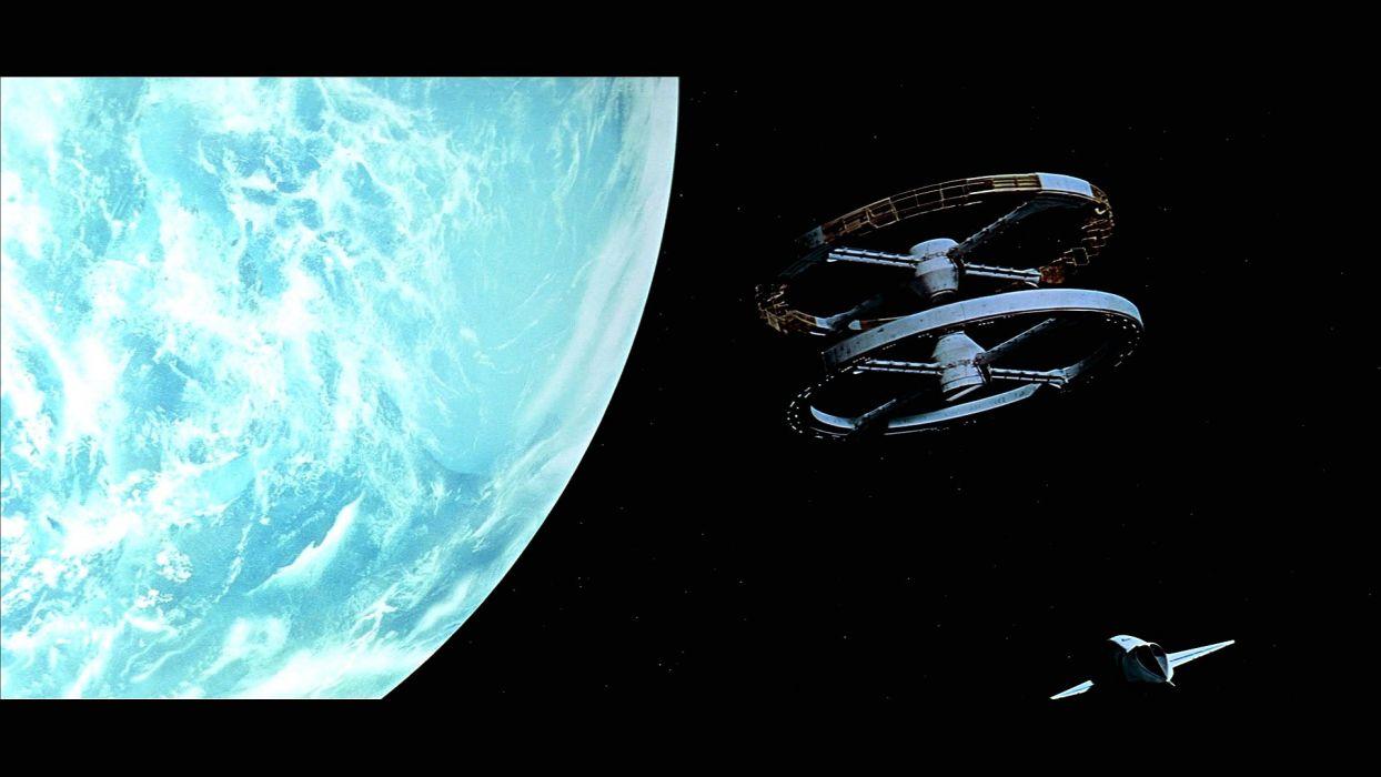 2001 Space Odyssey Sci Fi Mystery Futuristic Spaceship Wallpaper