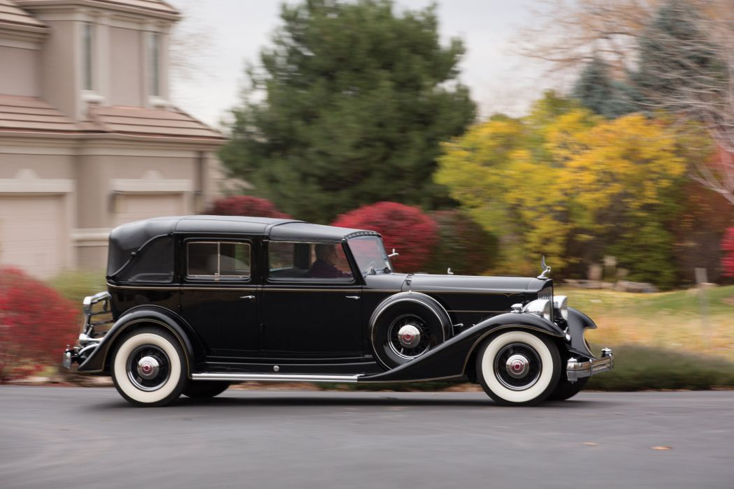 1933 Packard Custom Twelve All-Weather TownCar Landaulet LeBaron (1006-4003) luxury retro wallpaper