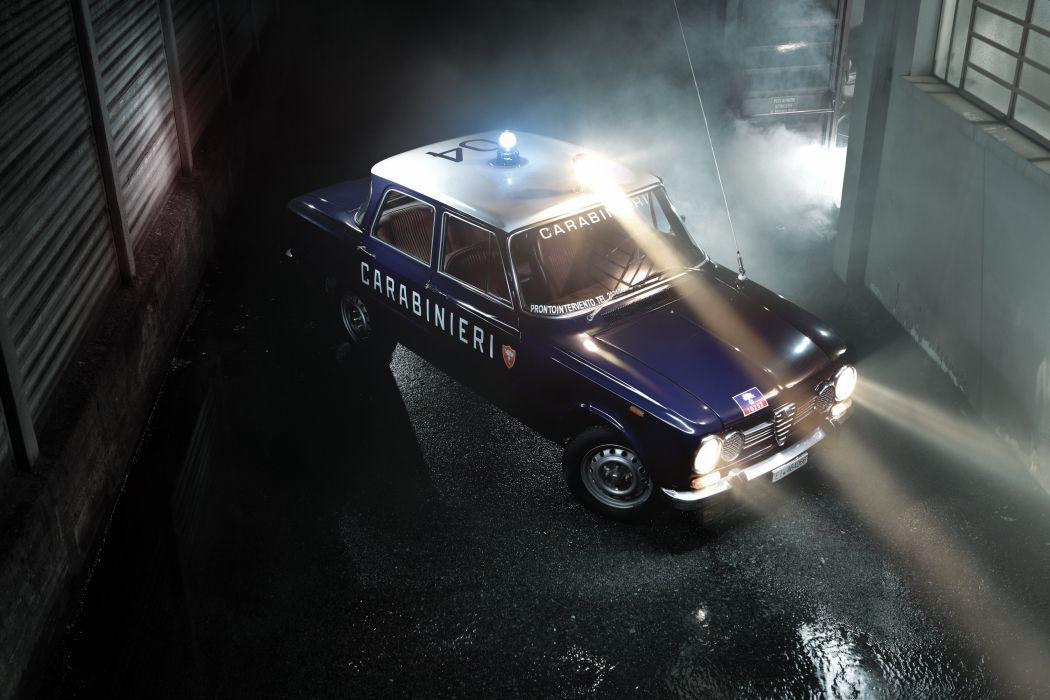 1972 Alfa Romeo Giulia 1300 Super Carabinieri (115) police emergency classic wallpaper