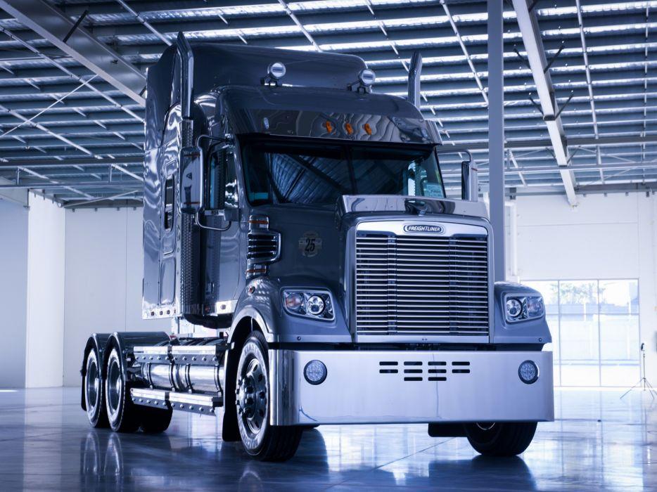 2014 Freightliner Coronado semi tractor transport wallpaper