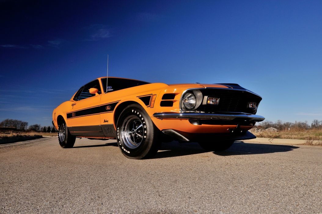 1970 Ford Mustang Mach-1 428 Super Cobra Jet Twister muscle classic wallpaper