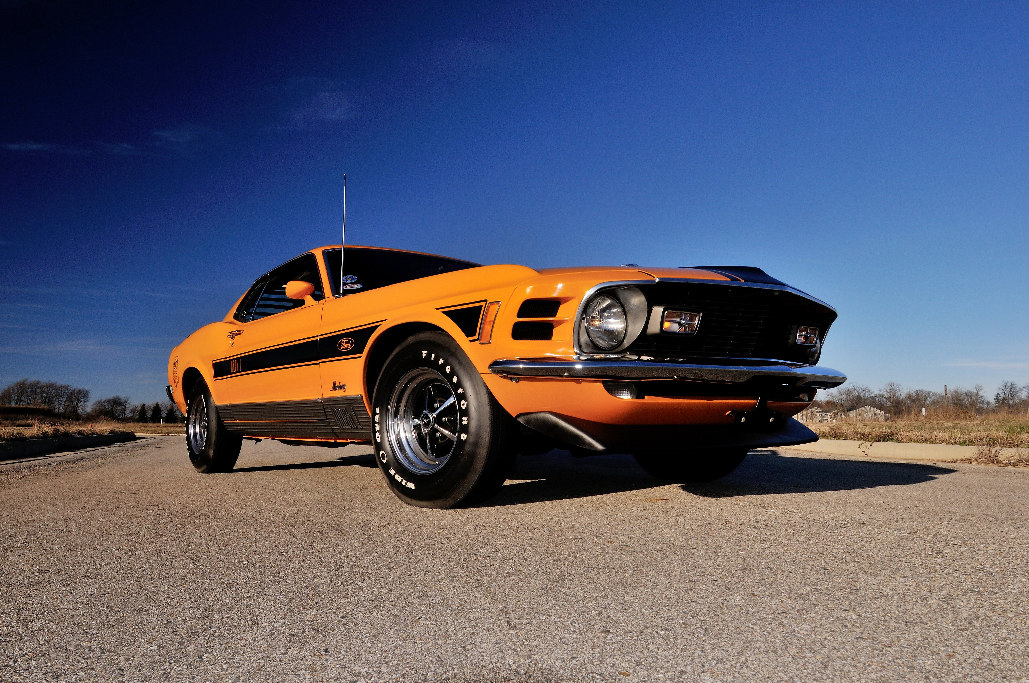 1970 ford mustang mach 1 428 super cobra jet twister muscle classic wallpaper 4096x2720 516271 wallpaperup