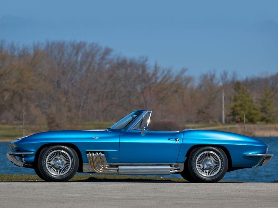 1963 Chevrolet Corvette StingRay Convertible (C-2) muscle sting ray supercar wallpaper