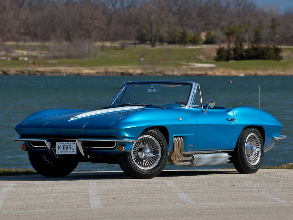 1963 Chevrolet Corvette StingRay Convertible (C-2) muscle sting ray supercar wallpaper