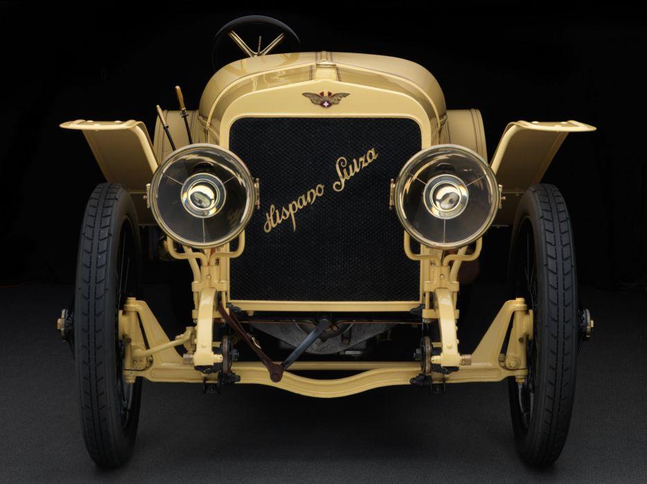 1912 Hispano Suiza T-15 Alfonso XIII SWB retro wallpaper