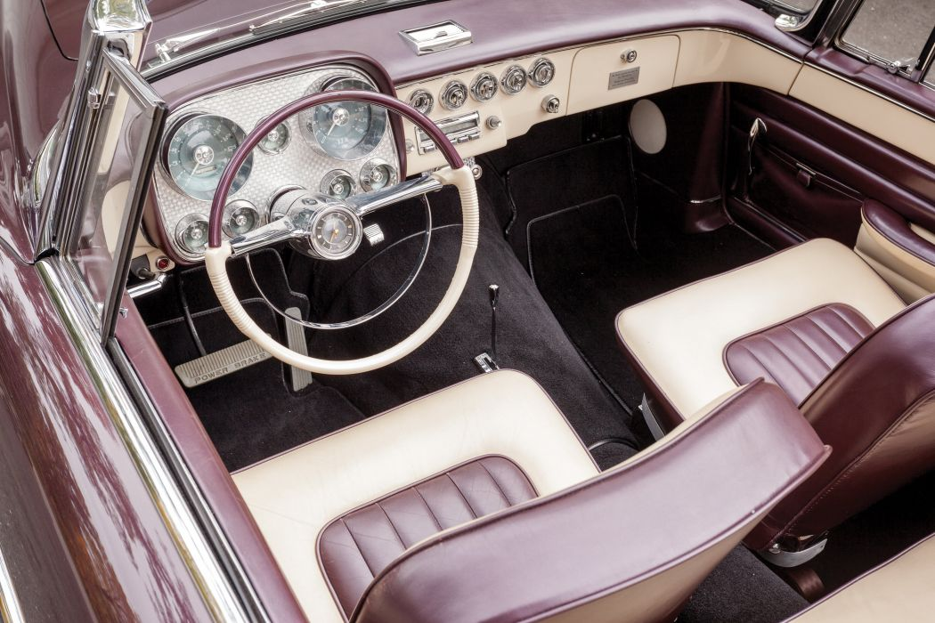 1958 Dual Ghia Convertible luxury retro wallpaper
