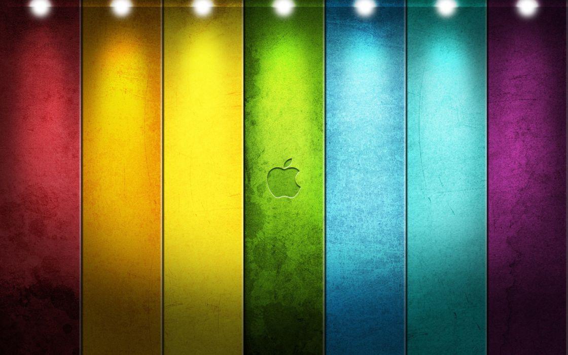tehnology apple logo colors wallpaper