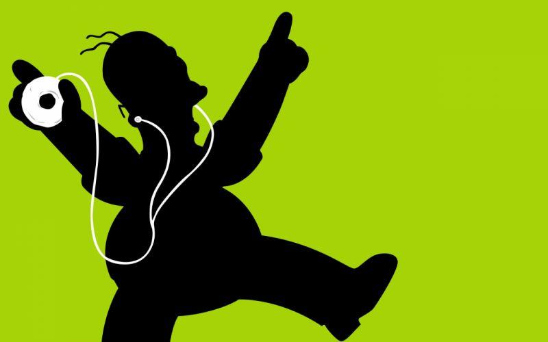 tehnology simpson homer apple music wallpaper
