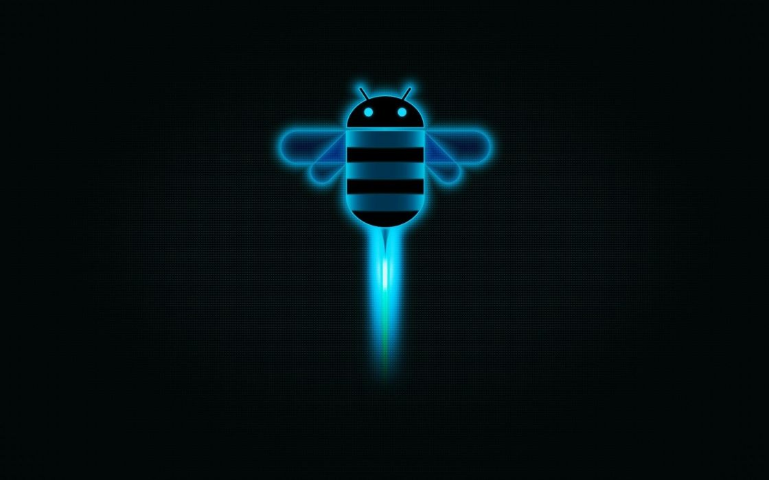tehnology android bee logo wallpaper