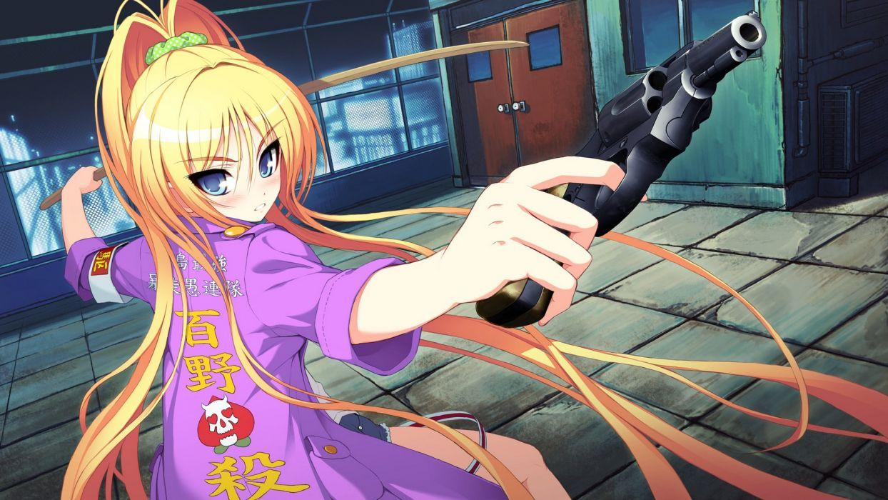 anime character girl gun wallpaper