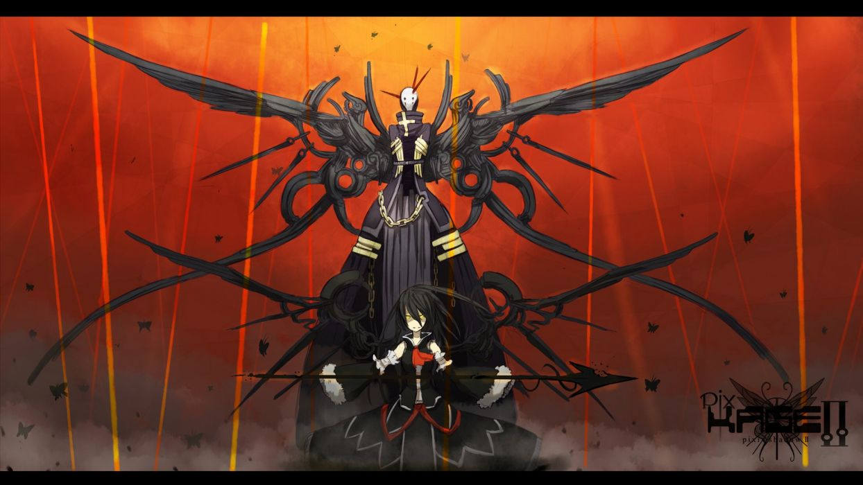 anime character man girl power wallpaper