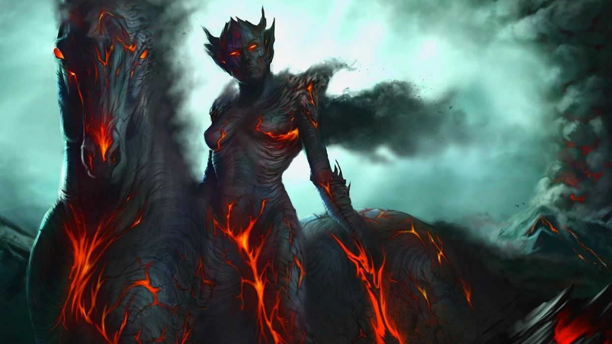DARK DEMON - Fantasy Warrior wallpaper
