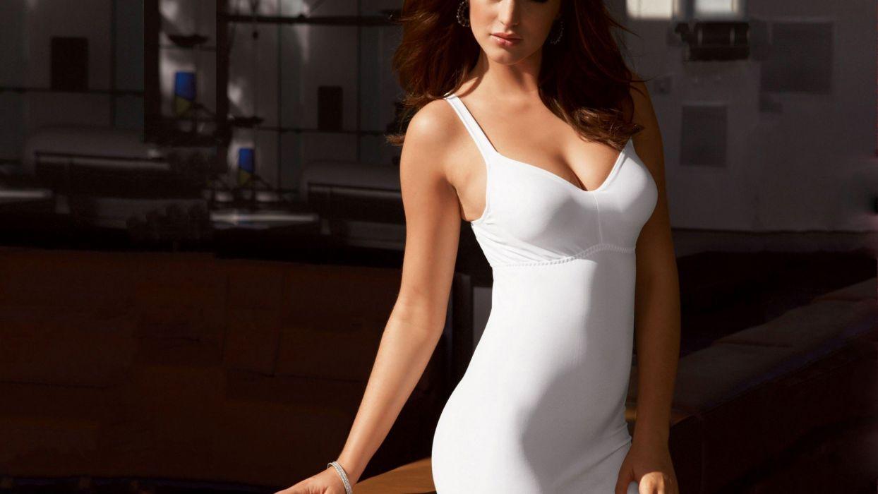 LAUREN BUDD - lingerie swimsuit model women brunettes wallpaper