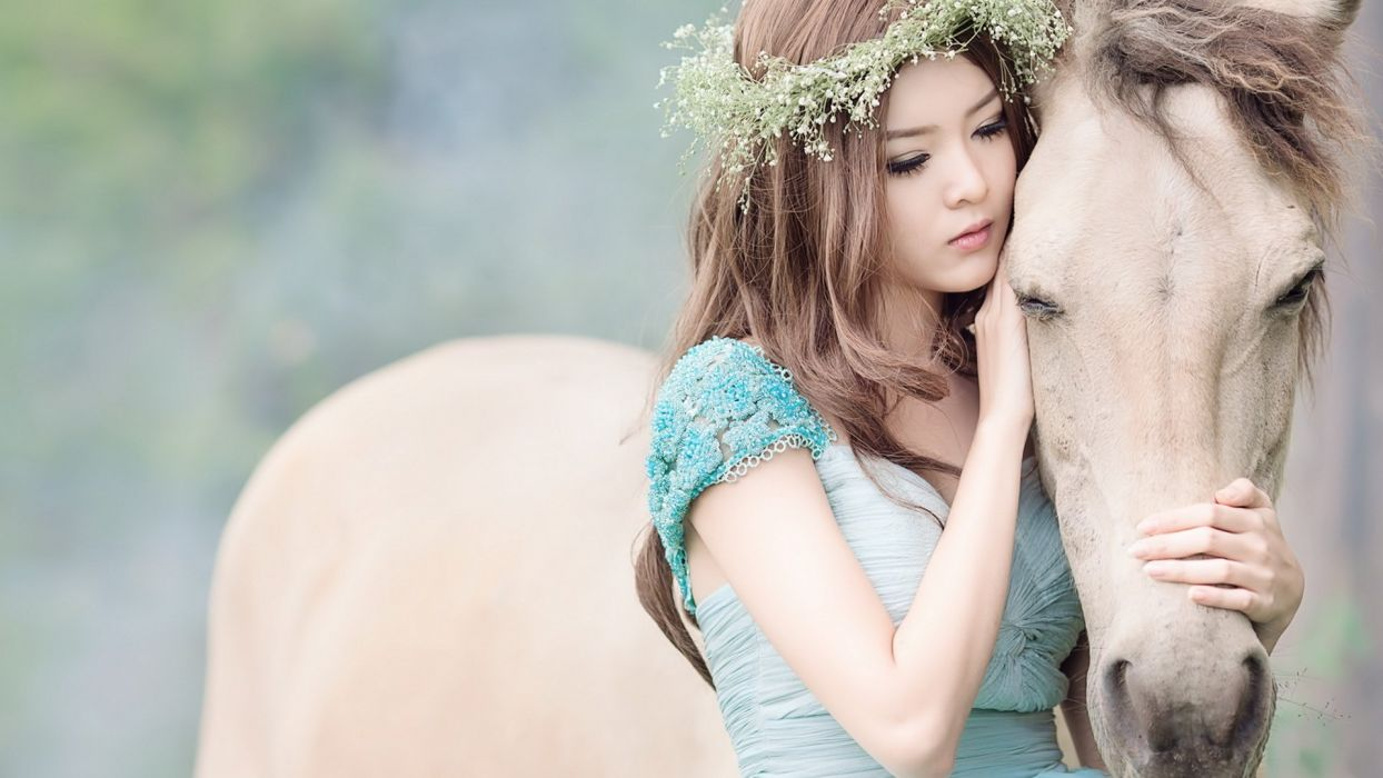 SAD GIRL - asian horse wallpaper