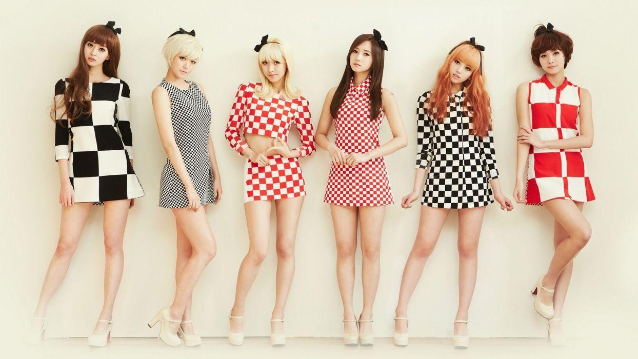 WOMEN'S CLUB - girls skirts short shoes group asian wallpaper