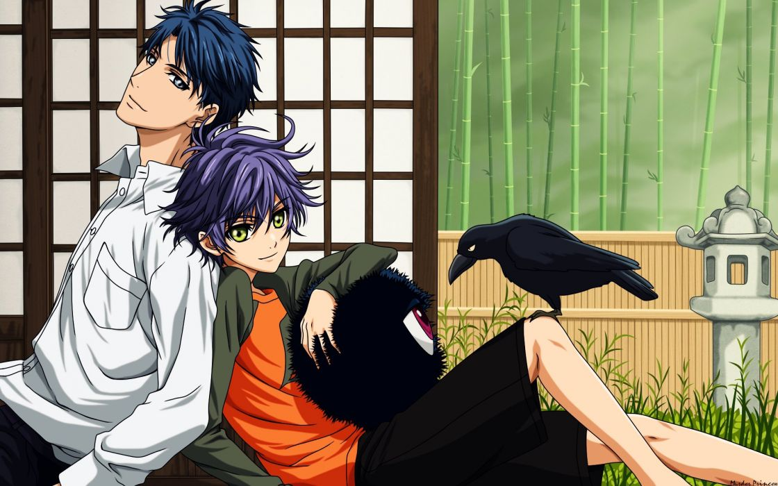 anime series hakkenden Crows Eyeball Males Plants wallpaper