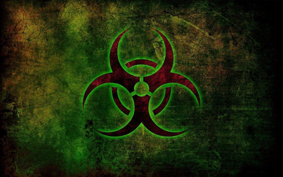 abstract art radioactive hazzard wallpaper