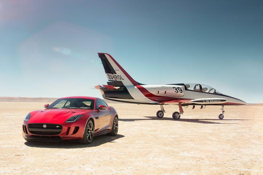 2014 Jaguar F-Type-R Coupe AWD F-Type supercar jet wallpaper