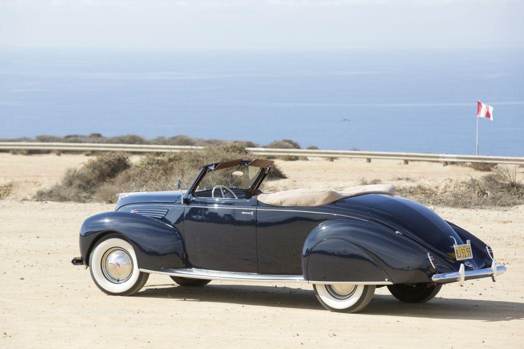 1938 Lincoln Zephyr Convertible Coupe (86H-760B) retro wallpaper