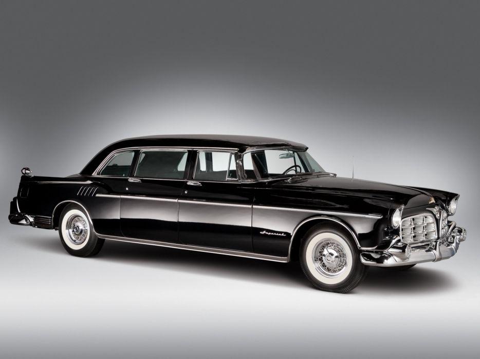 1956 Chrysler Crown Imperial Limousine (C70) luxury retro wallpaper
