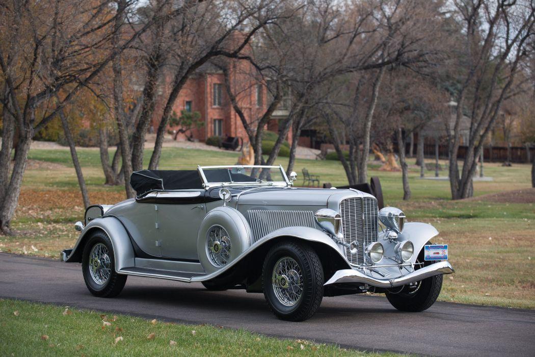 1934 Auburn V12 1250 Salon Dual Ratio Convertible luxury retro wallpaper