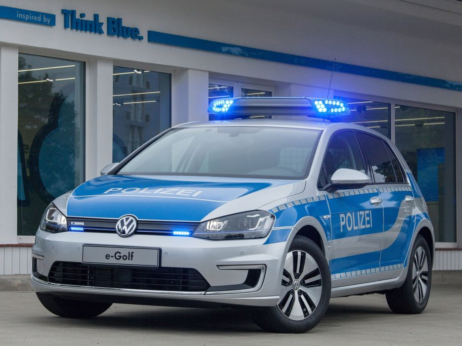2014 Volkswagen e-Golf Polizei electric police emergency wallpaper