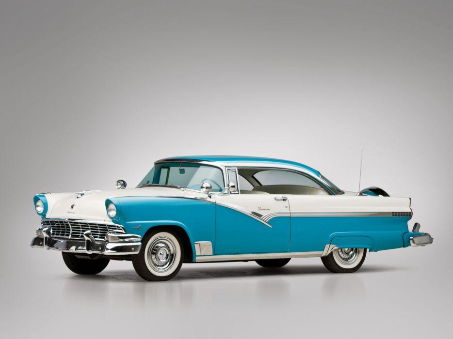 1956 Ford Fairlane Victoria Hardtop Coupe (64C) luxury retro wallpaper