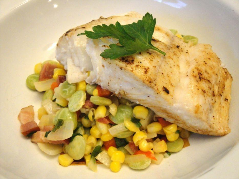 HALIBUT fish dinner meal seafood wallpaper