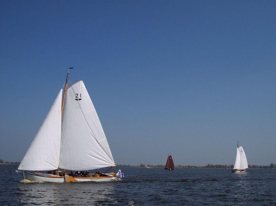 Sailing Ships Lake wallpaper