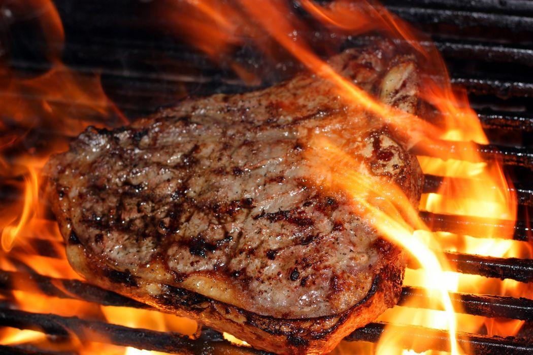STEAK meat meal dinner wallpaper