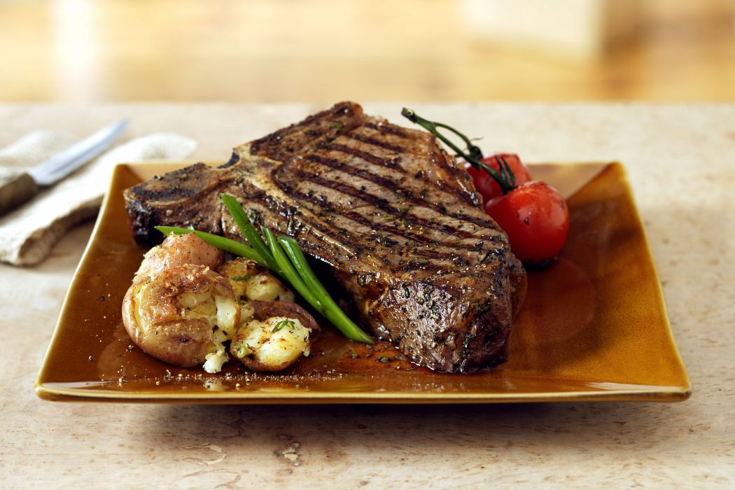 STEAK meat meal dinner wallpaper
