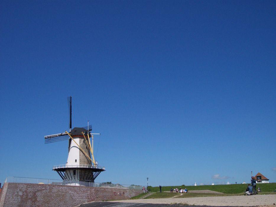 Mill Oranjemolen Vlissingen Netherlands Holland Flushing wallpaper