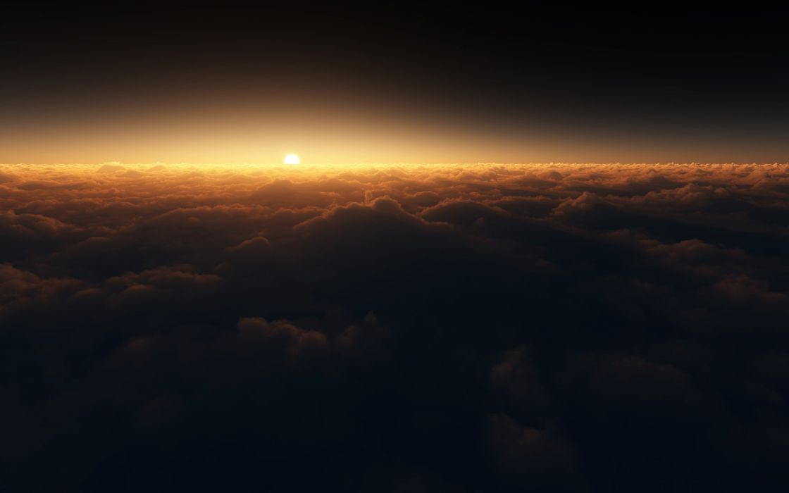 clouds shifted reality spectral the sun wallpaper
