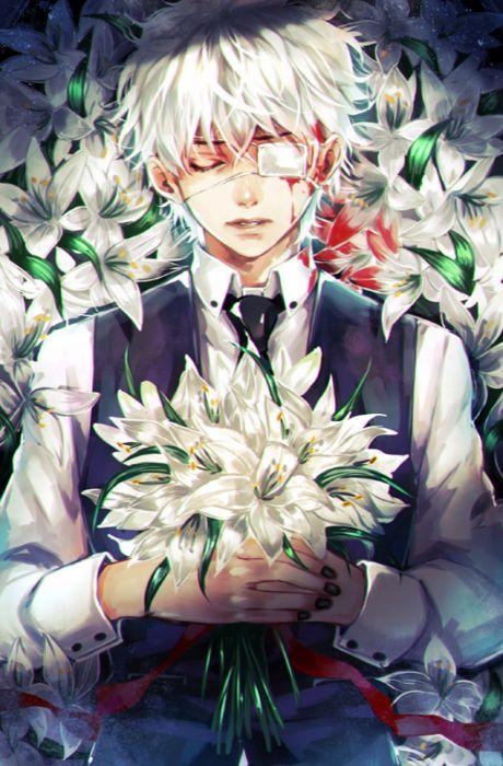 blood guy flower white dead anime wallpaper