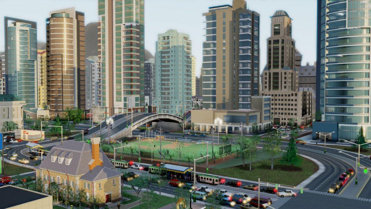 SIMCITY construction simulation city building wallpaper