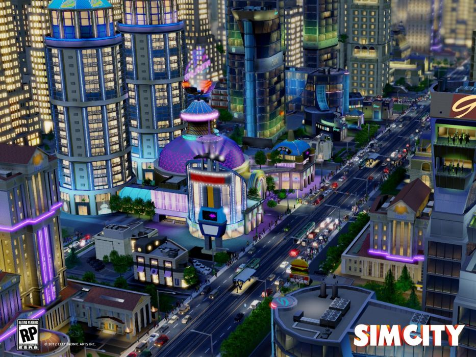 SIMCITY construction simulation city building wallpaper